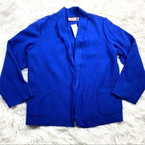Chico's New Boiled Wool Cardigan Sweater Size 2